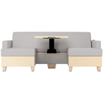 Wieland SleepToo® sleep sofa, custom front with table