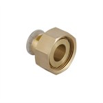 Geberit Mapress Cu Gas Adaptor with union nut