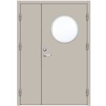Steel Door SDE4210 GS3R - Double Unequal