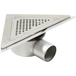 Side Outlet Corner Shower Drain with Triangular Top - BST-500