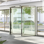 Glass 3-wing revolving door 1.8 to 3.0 m ∅