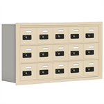 19000 Series Cell Phone Lockers-Recessed Mounted-3 Door High Units-5 Inch Deep Compartments