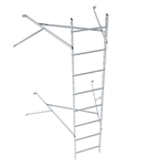 Wall ladder system with 1250 offset