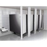 Powder-Coated Toilet Partition Floor to Ceiling