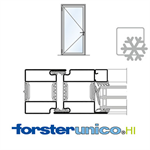 Door Forster unico HI, frame 50mm, Single-leaf