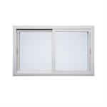 "Quiet Line™ Series Horizontal Sliding Window, 1' 11-3/4"" to 6' 0"" Width, 1' 1-1/2"" to 6' 0"" Height"