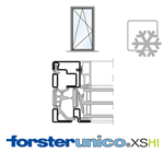 Window Forster unico XS, HI frame 8mm, Single-leaf
