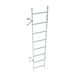 Wall ladder system with 150 offset