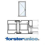Door Forster unico, frame 50mm, Single-leaf