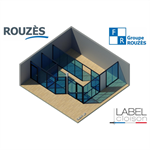ROUZES Cloison Amovible  CLEAR UP - Gamme VENTURI