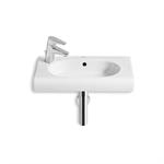 MERIDIAN 550 Compact wall-hung basin LH taphole