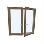 Window HF 410  Modell 3 TIMBER/ALUMINIUM