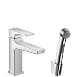 Metropol Single lever basin mixer with lever handle with bidette hand shower 32522000