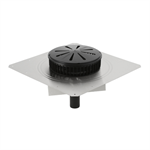 Geberit Pluvia roof outlet, with contact sheet and insulation against condensation