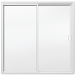 Brickmould-Vinyl, Sliding 2-Panel O-X Door
