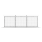 Sectional Railing Mesh – Top mounted