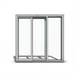Brickmould Vinyl 3 Panel Sliding Patio Door (OXO)