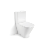 THE GAP RIMLESS Compact WC back-to-wall w/ cutout for isolation valve