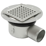 Side Outlet Shower Drain with Square Top - BSS-100