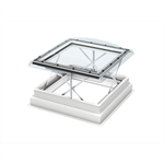 Smoke & comfort ventilation - flat roof window w. dome