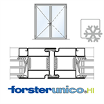 Door Forster unico HI, frame 50 mm, Double-leaf