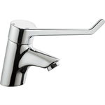 CERAPLUS anti vandal single lever one hole basin mixer, no pop-up waste