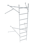 Wall ladder system with 1050 offset