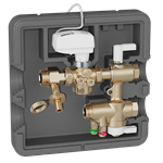 Connection and regulation kit for HVAC terminal units