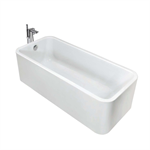ELEMENT 1800 x 800 One-piece bath w/ integrated panel and waste kit