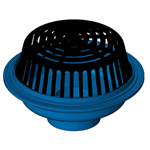 "Z100 15"" Diameter Main Roof Drain with Low Silhouette Poly-Dome"