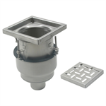 On-Grade Adjustable Floor Drain with 8in. x 8in. Square Top, Large Sump - BFD-210