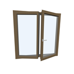 Window HF 410  Modell 5 TIMBER/ALUMINIUM