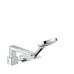 Metropol 3-hole rim mounted single lever bath mixer with lever handle and Secuflex 32550000