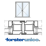 Door Forster unico, frame 50mm, Double-leaf