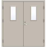 Steel Door SD4210 GS1M - Double Equal