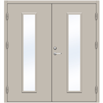 Steel Door SDE4210 GS2M - Double Equal