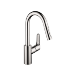 Focus Single lever kitchen mixer 200 with pull-out spray 04506001