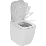 21/VENTUNO BTW BOWL W/SEAT SLIM SOFT WHT