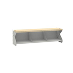 Seating bench for combination with shoe rack