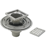 Adjustable Floor Drain with 12in. x 12in. Square Top, Large Sump - BFD-130