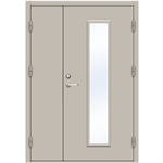 Steel Door SDE4210 GS2M - Double Unequal