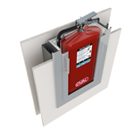 Extinguisher Cabinet, Two-Hour Rated, for Oval Brand Extinguisher Model 10JABC