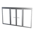 Frame double swing door - self supporting