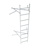 Wall ladder system with 650 offset