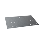 Fastening plate for roof ladder on metal roofs
