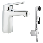 Siljan Basin mixer with self-closing hand shower