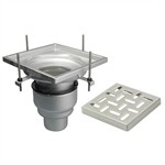 On-Grade Adjustable Floor Drain with 12in. x 12in. Square Top, Large Sump - BFD-240