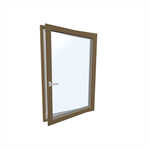 Window HF 410  Modell 1 / Modell 30 TIMBER/ALUMINIUM