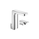 L90 Basin mixer, deck-mounted lateral handle, with pop-up waste