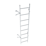 Wall ladder system with 250 offset